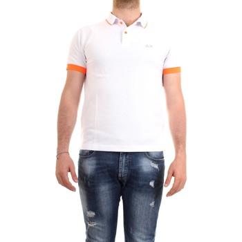 Vêtements Homme Polos manches courtes Sun68 A30114 blanc