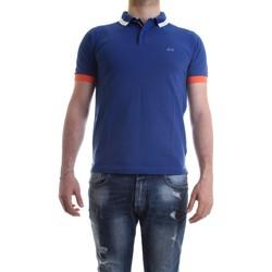 Vêtements Homme Polos manches courtes Sun68 A30107 polo homme Royal Royal