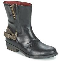 Chaussures Femme Boots Kickers AMERIKO Noir / Gris