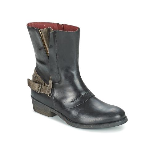 Bottines / Boots Kickers AMERIKO Noir / Gris 350x350