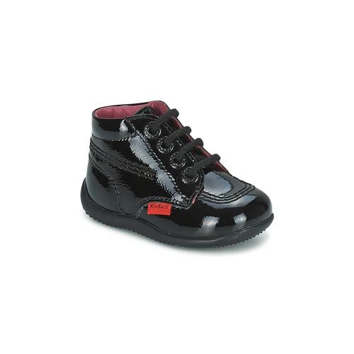 Chaussures Fille Boots Kickers BILLISTA PERM Noir