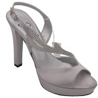 Chaussures Femme Sandales et Nu-pieds Angela Calzature Sposa E Cerimon AANGC5111arg argento