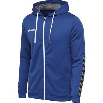 Vêtements Enfant Ensembles de survêtement Hummel Sweatshirt junior  zip Authentic Poly bleu