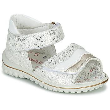 Chaussures Fille Sandales et Nu-pieds Primigi  Blanc / Argenté