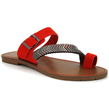 Chaussures Femme Tongs Chattawak Magnolia rouge