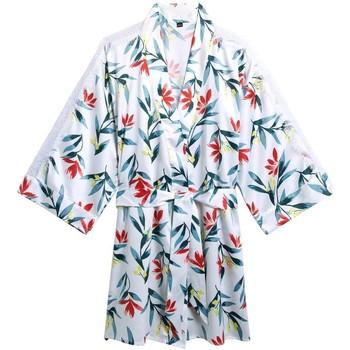 Vêtements Femme Pyjamas / Chemises de nuit Pommpoire Kimono imprimé Etourdie Blanc