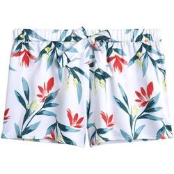 Vêtements Femme Shorts / Bermudas Pommpoire Short imprimé Etourdie Blanc