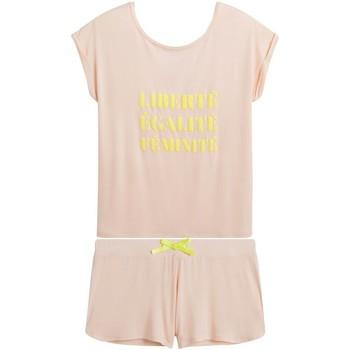 Vêtements Femme Pyjamas / Chemises de nuit Pommpoire Top short poudre Libre Rose