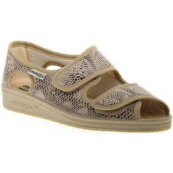 Chaussures Femme Sandales et Nu-pieds Emanuela 667 BEIGE PANTOFOLA Beige