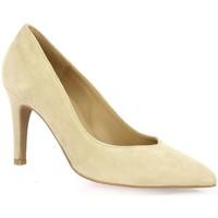 Chaussures Femme Escarpins Pao Escarpins cuir velours Beige