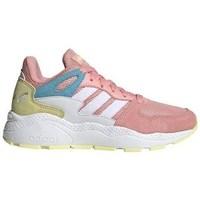 Chaussures Fille Baskets basses adidas Originals Crazychaos J Blanc,Beige,Rose