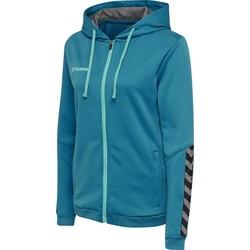 Vêtements Femme Sweats Hummel Sweatshirt femme  zip hmlAUTHENTIC Poly bleu