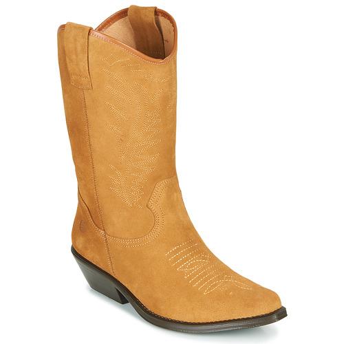 Chaussures Femme Bottes ville Betty London LOVA Camel
