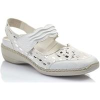 Chaussures Femme Ballerines / babies Rieker GALAXY Blanc