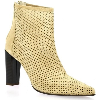 Chaussures Femme Bottines Pao Boots cuir velours  sable Sable