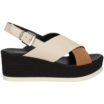 Chaussures Femme Sandales et Nu-pieds Gianmarco Sorelli 2801/JIL/MS BLANC ET BEIGE