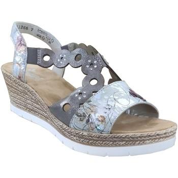 Chaussures Femme Sandales et Nu-pieds Rieker 619d6 Gris