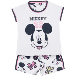 Vêtements Fille Pyjamas / Chemises de nuit Admas Pyjama short t-shirt Mickey 28 Disney blanc Blanc