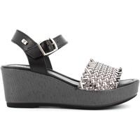 Chaussures Femme Sandales et Nu-pieds Valleverde 32413 Acciaio / nero