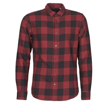 Vêtements Homme Chemises manches longues Only & Sons ONSGUDMUND Bordeaux / Noir