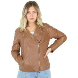 Vêtements Femme Vestes en cuir / synthétiques Oakwood Blouson style perfecto  Camille en cuir ref marron