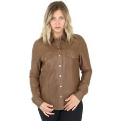 Vêtements Femme Chemises / Chemisiers Giorgio Cuirs Chemise Giorgio en cuir ref_49304 Café Marron