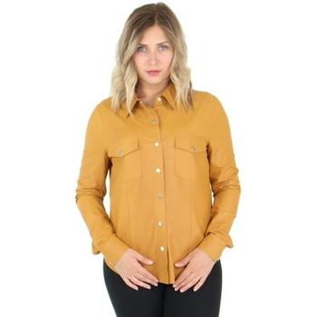 Vêtements Femme Chemises / Chemisiers Giorgio Cuirs Chemise Giorgio en cuir ref_49304 Miel Jaune