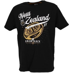 Vêtements Homme T-shirts manches courtes Union Black Lord new zealand tee blk Noir