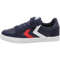 Chaussures Enfant Baskets basses Hummel Chaussures junior  slimmer stadil leather low bleu foncé