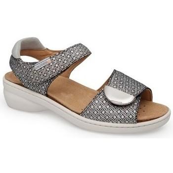 Chaussures Femme Sandales et Nu-pieds Calzamedi SANDALE  FRESH STYLE NOIR BLANC