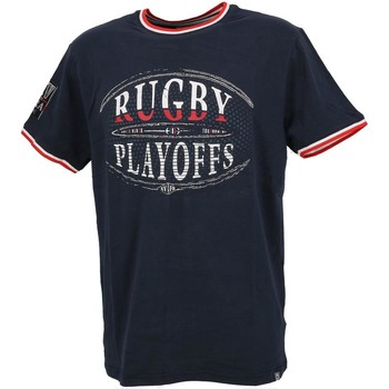 Vêtements Homme T-shirts manches courtes Union Black Playoffs navy mc tee Bleu marine / bleu nuit