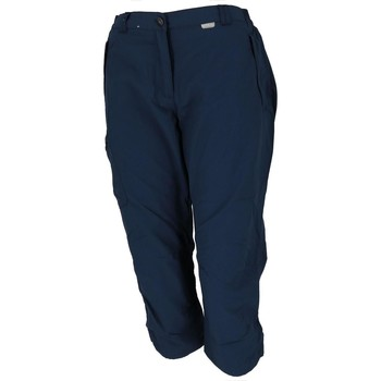 Vêtements Femme Pantacourts Regatta Chaska capri ii dk denim l Bleu marine / bleu nuit