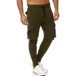 Vêtements Homme Pantalons de survêtement Monsieurmode Jogging treillis homme Jogging 19611 vert Vert