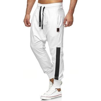 Vêtements Homme Pantalons de survêtement Monsieurmode Jogging sarouel homme Jogging 19620 blanc Blanc