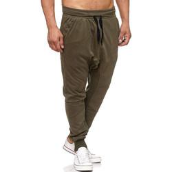 Vêtements Homme Pantalons de survêtement Monsieurmode Jogging homme sarouel Jogging P-501 vert kaki Vert