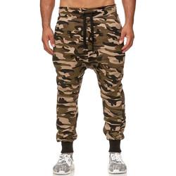 Vêtements Homme Pantalons de survêtement Monsieurmode Jogging sarouel camouflage Jogging P501 vert camo Vert