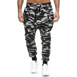 Vêtements Homme Pantalons de survêtement Monsieurmode Jogging camouflage sarouel Jogging P-501 gris Gris