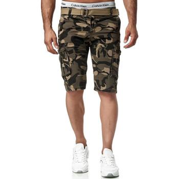 Vêtements Homme Shorts / Bermudas Monsieurmode Bermuda homme camouflage Bermuda 7708 beige Beige