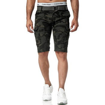 Vêtements Homme Shorts / Bermudas Monsieurmode Bermuda camouflage militaire Bermuda 7708 gris Gris