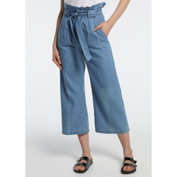 Vêtements Femme Pantalons fluides / Sarouels Lois pantalon cinturon dael jinx bleu clair 206902042 Bleu