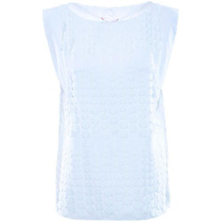 Vêtements Femme Tops / Blouses Luckylu BLUSA SMANICATA PIZZO BOLLI 0001-bianco