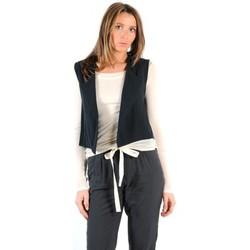 Vêtements Femme Gilets / Cardigans American Vintage GILET LEA134E11 CARBONE Gris