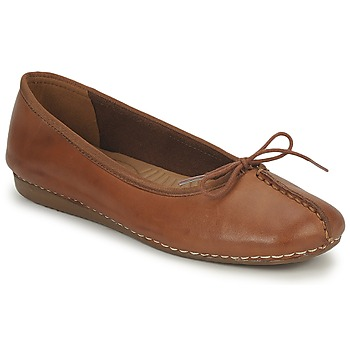 Chaussures Femme Ballerines / babies Clarks FRECKLE ICE Marron