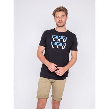 Vêtements Homme T-shirts manches courtes Ritchie T-shirt col rond motifs relief NOUKAT Bleu