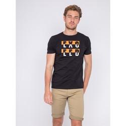 Vêtements Homme T-shirts manches courtes Ritchie T-shirt col rond motifs relief NOUKAT Orange