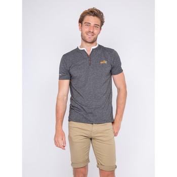 Vêtements Homme T-shirts manches courtes Ritchie T-shirt col tunisien NUTTY Noir