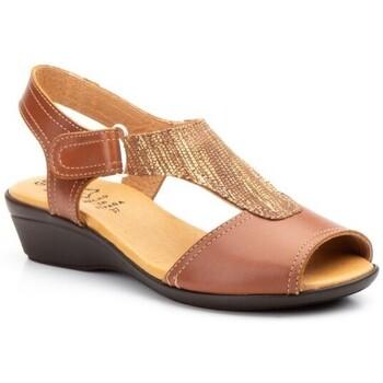 Chaussures Femme Sandales et Nu-pieds Cbp - Conbuenpie  Marron