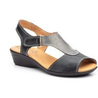 Chaussures Femme Sandales et Nu-pieds Cbp - Conbuenpie  Noir