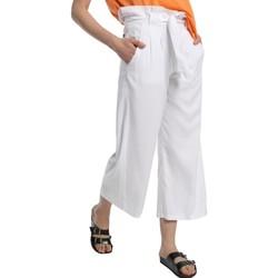 Vêtements Femme Pantalons fluides / Sarouels Lois pantalon cinturon dael jinx blanc 206902042 Blanc