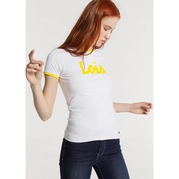Vêtements Femme T-shirts manches courtes Lois T Shirt Blanc 420472094 Blanc